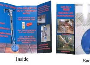 Hard Surface Cleaning Professional brochure, trifold, 250 pieces