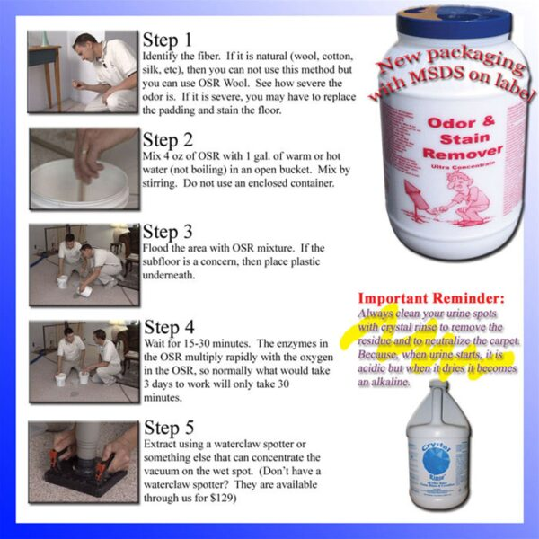 Odor and Stain Remover, OSR