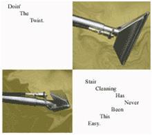 "9 3/4"" wide 30"" long TWISTING HEAD Stair Tool, CLOSED SPRAY, 500psi, brass valve"