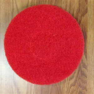 "7 3/4"" general use cleaning pads for 19"" Cimex. Red. Come in a qty of 20 per case"
