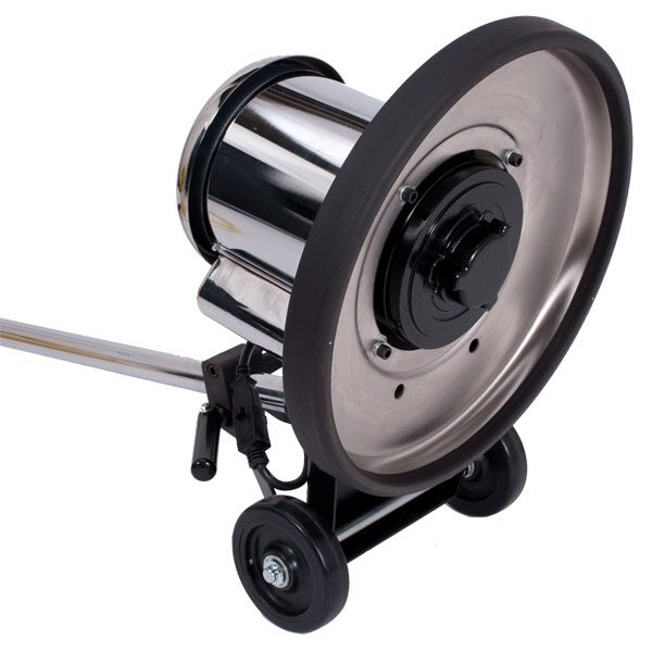 Saturn 17? 175 RPM 1.5 HP, Low Speed Buffer, Black Powder Coated Steel Brush Cover 17LS30-BK-SV