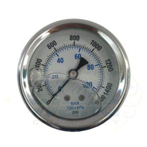 Pressure Gauge. 1500 psi