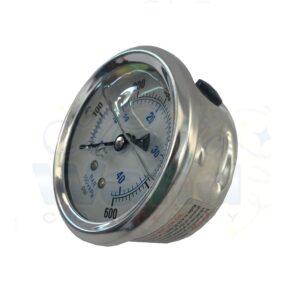 Pressure gauge, 600 psi