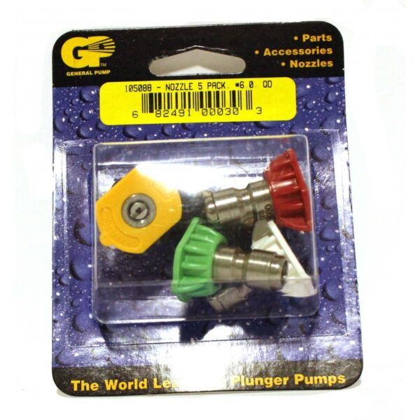 GP QC Pressure Washer Nozzle 5-Pack, #6.0 (8.708-725.0)