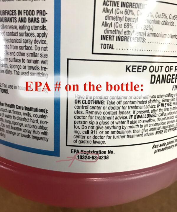 Diamond Disinfectant EPA #