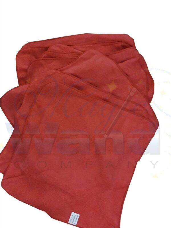 MICROFIBER CLOTHS, RED 16 X 16, 240