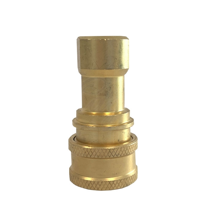 """1/4"""" female quick connector, Brass, mate to 1/4""""QDmale"""