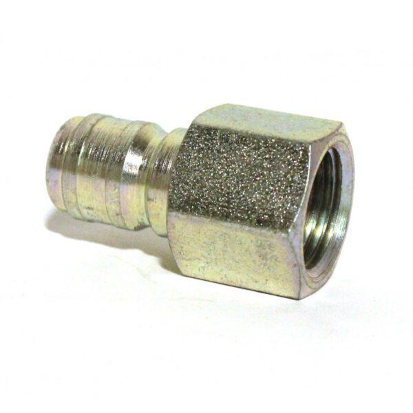 """3/8"""" FPT Quick Coupler Plug/Nipple, Steel"""