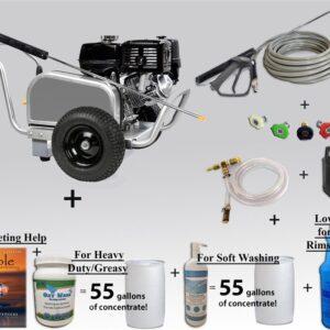 Aluminum pressure washer 14 HP 4 gpm 4000 psi