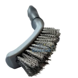 Mini Shark Grout Brush - Metal